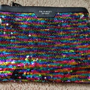 New Victoria's Secret Sequin makeup bag